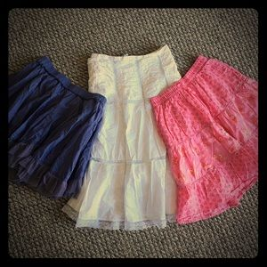 Bundle of girls skirts!